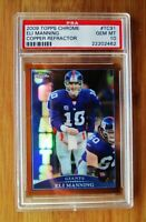 2009 Topps Chrome Copper Refractor #91 ELI MANNING PSA 10 GEM MINT