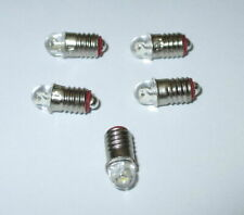 """Ampoules De Remplacement LED (Märklin 600100/600200) E5.5 16-24V - 5 X """" Neuf """""""