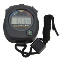 Digital Handheld Sports Stopwatch Stop Watch Timer top Alarm Counter P1Y7