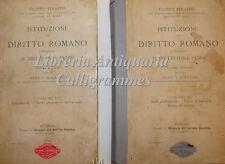 DIRITTO CIVILE: Filippo Serafini, ISTITUZIONI DIRITTO ROMANO 2 voll Modena 1899