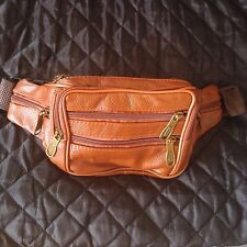 Genuine Leather Men's Waist Bag Belt Travel Hip Bags Men Brown Fashion Bumbag