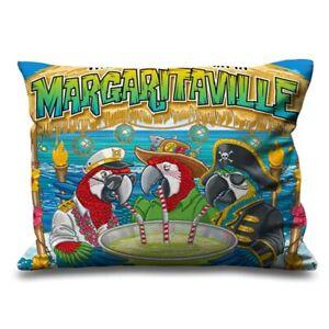 "Margaritaville Parrots Decorative Zippered Pillow Case 16"" x 24"" Cushion Cover"