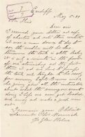 Thos Morwick 1889 to Hine Brothers Shipping Copy of Charter Rec Letter Ref 37020