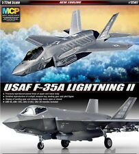 Academy 12507 USAF F-35A LIGHTNING II w/ Multi Color Parts 1/72 NIB Military