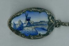 Vintage Silver & Enameled Holland, Souvenir Spoon, Made in Czechoslovakia