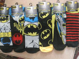 Batman Men's socks,size 6-11, 6 designs