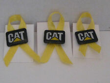 New Caterpillar CAT Logo Pin customized w/ YELLOW RIBBON support our troops