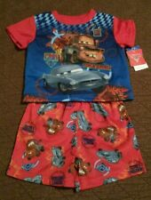"NEW~Cars Pajamas Sleepwear ""Secret Mission"" 2pc Short Set Boys Sz 24 Mos."