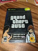 Grand Theft Auto Double Pack, All-Inserts, CIB & TESTED (Microsoft Xbox, 2003)
