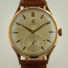 Omega Vintage, Mens, 18K Rose Gold, Manual Wind, Cal 266, Leather Band