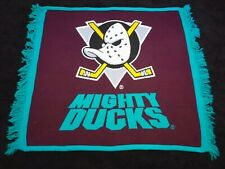 Disney Vintage Anaheim Mighty Ducks Hockey Plush Throw Blanket NHL