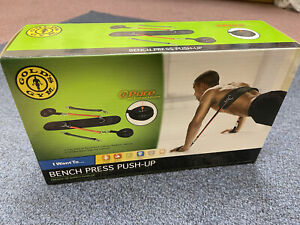 NEW Gold's Gym Bench Press Push Up Straps Resistance Bands Workout Tubing Toning