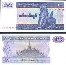 BURMA MYANMAR 10 KYATS 1996 P 71 UNC