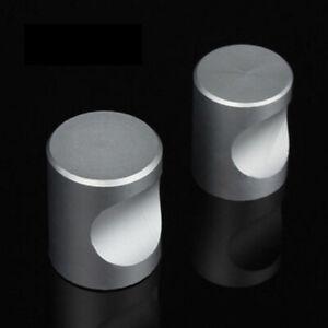 12Pcs Knobs Door Handles Drawer Pull Cupboard Plain Furniture Small Grey Set UK