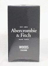 1 Abercrombie & Fitch WOODS Eau De Cologne EDC for Men 1.7 oz / 50 mL RARE HTF