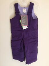 The Children's Place Infant Girls Snowsuit Ski Bib Size 12 Months Purple New