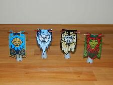 Lego bannières drapeaux accessoires x4 fr minifigures lotr hobbit castle knight chima
