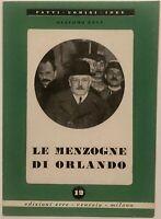 """RSI Giacomo Etna """"LE MENZOGNE DI ORLANDO"""" libro edizione ERRE Venezia - Milano"""