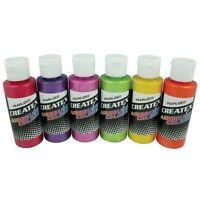 CREATEX Airbrush Paint Set 6 pc PEARLIZED SAMPLER Colors Airbrushing 5811