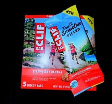 80 CLIF ENERGY BAR STRAWBERRY BANANA FRUIT SMOOTHIE FILLED 2.4 oz 18MAY/2019 NEW