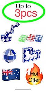 Up to 3pcs Magic Snake Toy 3D Shape Twist Puzzle Game Kids Fun fidget  sensory