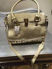 Gorgeous Gold Padlock / Studded Tote Bag