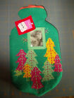 Christmas Knitted Hot Water Bottle Made from Natural Rubber -NEW w/tag