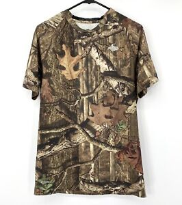 Starter Mens Camo Shirt Large Mossy Oak Dri-Fit Short Sleeves Crew Neck Athletic
