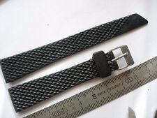 bracelet caoutchouc 16 mm strap plongée diving watch diver VINTAGE Alaska N10