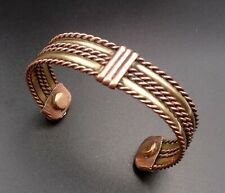 Bracelet magnétique en cuivre torsadé aimants Anti-Douleurs Rhumatisme Arthrose