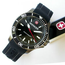 NEW $250 GENTS 43MM WENGER 641.103 BLACK SEAFORCE OUTSIDE MAGAZINE WATCH OF YEAR