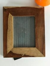 "10.5"" x 8.5"" Duo Tone Flat Raw Polished Wood Frame for 7"" x 5"" Photo or Picture"