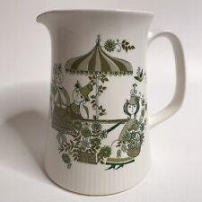 VINTAGE Turi Design Market Lotte Water Tea Pitcher FOLK ART Norway Avocado MCM