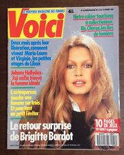 ►VOICI n°66 / 1989 - BRIGITTE BARDOT - SHIRLEY MACLAINE - ADJANI - MUTI - ZARAI