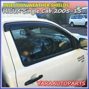 InjectionWeather Shields Window Visors for TOYOTA HILUX Single Cab 2005-15