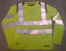 Kids long sleeve t shirt top Hi viz vis yellow Cycling Horse riding etc Rockfish