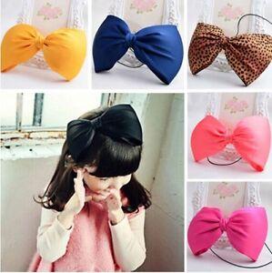 "7.5"" Large Puffy Bow Knot Hair Head Band headband Hairband Accessories Girls"