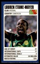 Revista de coincidencia-Trump Tarjetas (Copa del Mundo 2002) Lauren Etame-Mayer (Camerún)
