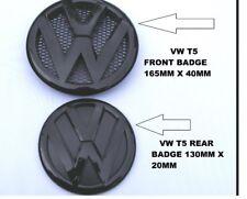 VW TRANSPORTER T5 GLOSS BLACK EMBLEM FRONT & REAR BADGE SET TDI