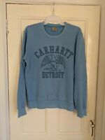 Carhartt Men's Blue Spell Out Sweatshirt Jumper Size Medium