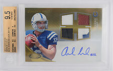 ANDREW LUCK 2012 CERTIFIED GOLD RPM QUAD PATCH AUTOGRAPH 4/25 BGS 9.5 W/10 AUTO