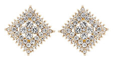 Clip On Earrings glamerous gold stud with clear diamante crystals - Alex