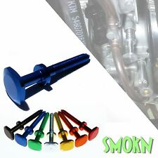 Yamaha YZ 250 Keihin PWK Easy Adjust Carburettor Idle screw Blue Anodised