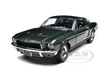 1968 FORD MUSTANG GT BULLITT STEVE MCQUEEN GREEN 1/18 DIECAST GREENLIGHT 12822