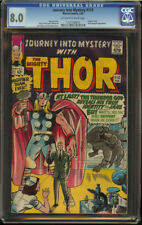 Journey into Mystery #113 CGC 8.0 OW/W Pgs Origin Loki Nice Thor SA KEY
