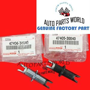 GENUINE TOYOTA SUPRA CAMRY GS ES IS RIGHT & LEFT PARKING BRAKE ADJUSTER SET OF 2