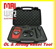 Universal Oil Service and Airbag Reset Tool, incl. BMW, Mercedes, VAG Adapter
