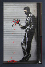 BANKSY THE HUSTLER 13x19 FRAMED GELCOAT POSTER STREET ART ARTIST PAINT GRAFFITI!