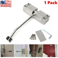 Automatic Mounted Spring Door Closer Adjustable Surface Self Closing Home Office
