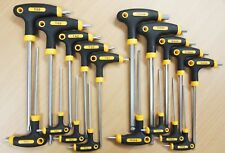 18PC T-Handle Torx Star Hex Key Wrench Set 2 Drive Ends